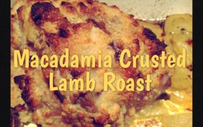 Macadamia and Garlic Crusted Lamb Roast with Roasted Eshallot Gravy (Thermomix Method Included)