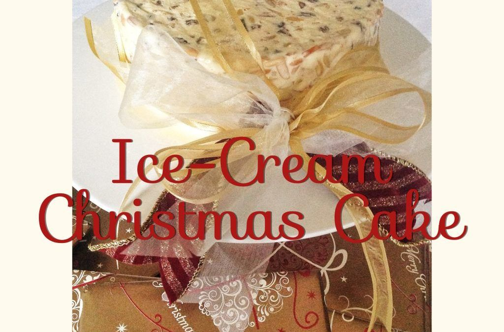 Ice-Cream Christmas Cake (Thermomix Method Included)